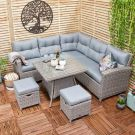 Oren Athens 5-7 Seater Rattan Lounge High Back Corner Sofa Set