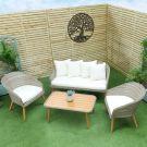 Oren Cali 4 Seater Rattan Sofa Set