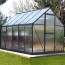 Palram 6' x 10' Mythos Grey Polycarbonate Greenhouse