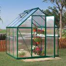 Palram 6' x 6' Mythos Green Polycarbonate Greenhouse