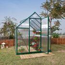 Palram 6' x 8' Mythos Green Polycarbonate Greenhouse