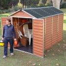 Palram 6' x 10' Skylight Plastic Amber Shed