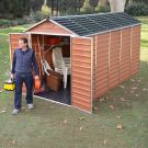 Palram 6' x 12' Skylight Plastic Amber Shed