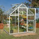 Palram 6' x 6' Harmony Silver Polycarbonate Greenhouse