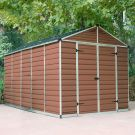 Palram 8' x 12' Skylight Plastic Amber Shed