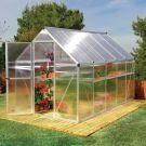 Palram 6' x 10' Mythos Silver Polycarbonate Greenhouse