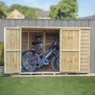Adley 6' x 4' Pressure Treated Overlap Pent Bike Store