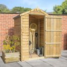 Adley 4' x 3' Pressure Treated Windowless Overlap Apex Shed