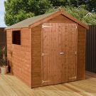 Adley 6' x 8' Premium Pressure Treated Double Door Shiplap Apex Shed