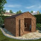 Adley 10' x 16' Premium Pressure Treated Double Door Shiplap Modular Apex Workshop