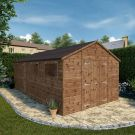 Adley 10' x 20' Premium Pressure Treated Double Door Shiplap Modular Workshop