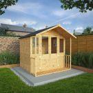 Adley 7' x 7' Traditional Summer House With Veranda