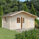 Stour 4.5m x 3.3m Cambridgeshire Log Cabin With Side Shed