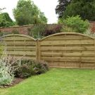 Hartwood 4' x 6' Weave Curved Fence Panel