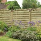 Hartwood 6' x 6' Weave Curved Fence Panel