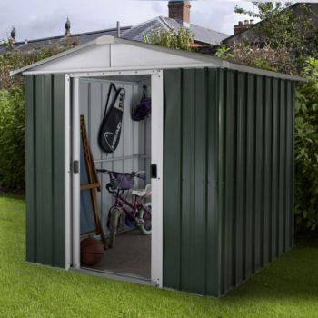 "YardMaster 6' 5"" x 6' 7"" Apex Metal Garden Shed"