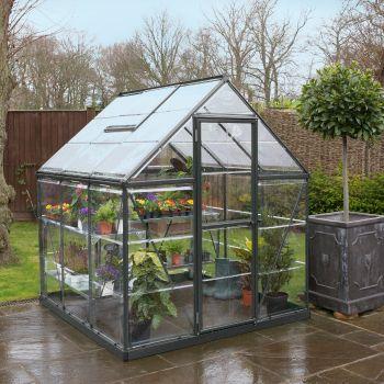 Palram 6' x 6' Harmony Grey Polycarbonate Greenhouse