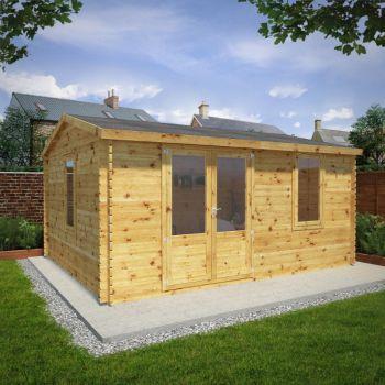 Adley 5m x 4m Home Office Log Cabin