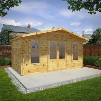 Adley 5m x 3m Lincoln Log Cabin