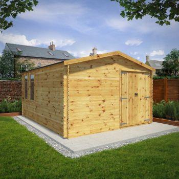 Adley 5m x 4m Ultimate Log Cabin Workshop