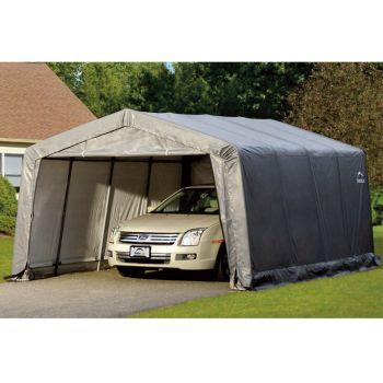 Shelter Logic 12' x 16' Compact Peak Style Portable Car Shelter