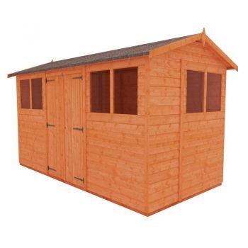 Redlands 6' x 12' Double Door Shiplap Modular Apex Shed