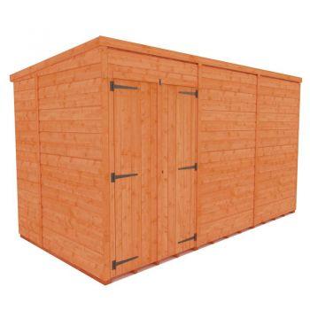 Redlands 6' x 12' Double Door Windowless Shiplap Modular Pent Shed