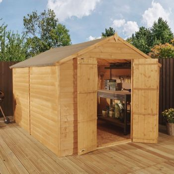 Adley 8' x 12' Windowless Double Door Overlap Apex Shed