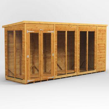 Oren 14' x 4' Shiplap Contemporary Long-Room Summer House
