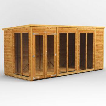 Oren 14' x 6' Shiplap Contemporary Long-Room Summer House