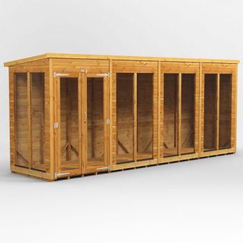 Oren 16' x 4' Shiplap Contemporary Long-Room Summer House