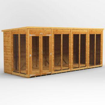 Oren 16' x 6' Shiplap Contemporary Long-Room Summer House