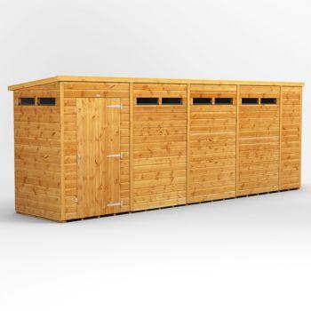 Oren 18' x 4' Shiplap Modular Custom Pent Security Shed