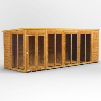 Oren 18' x 6' Shiplap Contemporary Long-Room Summer House