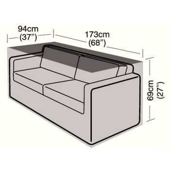 Cover Up - 2/3 Seater Rattan Sofa Cover - Large - 173cm