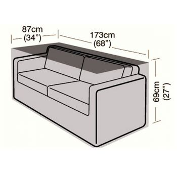Cover Up - 2/3 Seater Rattan Sofa Cover - Small - 173cm
