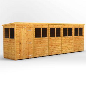 Oren 20' x 4' Shiplap Modular Custom Pent Shed