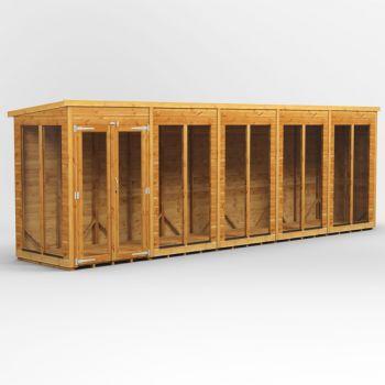 Oren 20' x 4' Shiplap Contemporary Long-Room Summer House