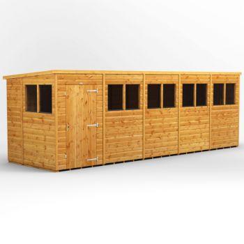Oren 20' x 6' Shiplap Modular Custom Pent Shed