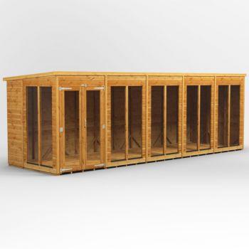 Oren 20' x 6' Shiplap Contemporary Long-Room Summer House