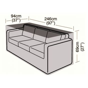 Cover Up - 3 Seater Rattan Sofa Cover - Large - 246cm