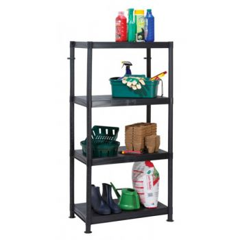 4 Tier Plastic Shelf Unit