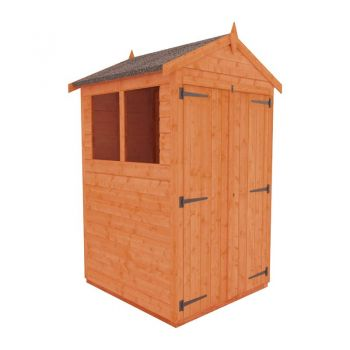 Redlands 4' x 4' Double Door Shiplap Modular Apex Shed