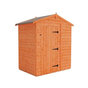 Redlands 6' x 4' Windowless Shiplap Modular Apex Shed