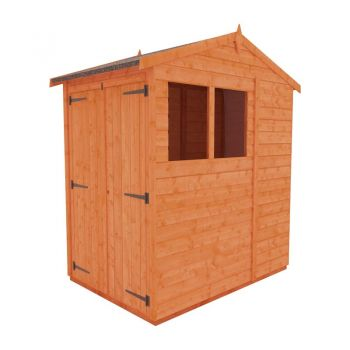 Redlands 6' x 4' Double Door Shiplap Modular Apex Shed