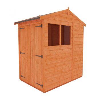 Redlands 6' x 4' Double Door Shiplap Modular Apex Shed