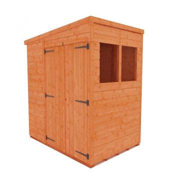 Redlands 6' x 4' Double Door Shiplap Modular Pent Shed