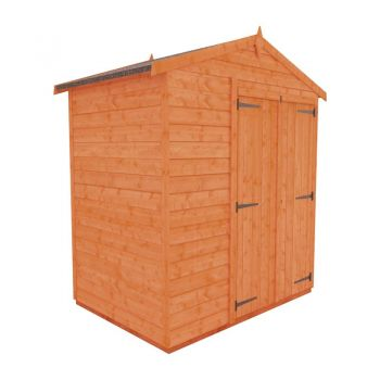 Redlands 6' x 4' Double Door Windowless Shiplap Modular Apex Shed