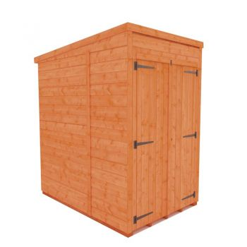 Redlands 6' x 4' Double Door Windowless Shiplap Modular Pent Shed
