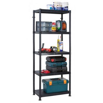 5 Tier Plastic Shelf Unit
